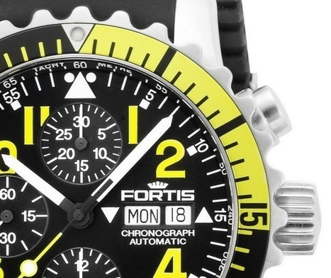 Fortis Marinemaster Chronograph Yellow Watch   Watch Magazine   Scoop.it