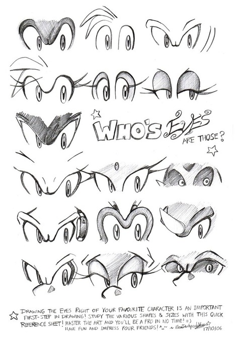 Sonic Character Eyes Reference | Fashion | Scoop.it