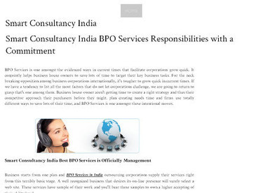 Smart Consultancy India BPO Services Responsibilities with a Commitment | smart consultancy india | Scoop.it