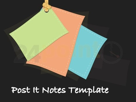 Post It Notes Template | PowerPoint - Maps, Templates, Diagrams, Illustrations and more! | Scoop.it