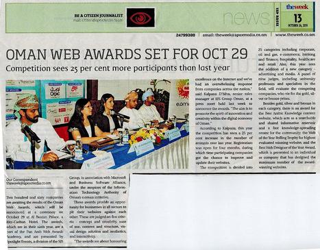 Press Release - Oman Web Award Set for Oct 29 | GulfCyberTech | Scoop.it