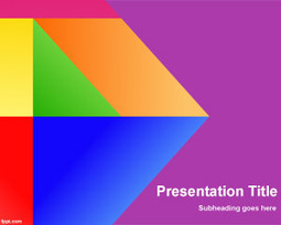 Colors Vitro PowerPoint Template   Free Powerpoint Templates   geometry ppt template   Scoop.it