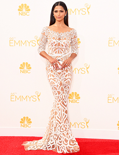 Camila Alves Kills It on the 2014 Emmys Red Carpet in Sheer Dress With ... - Us Magazine | contemporary fashion design | Scoop.it