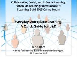 Everyday Workplace Learning: A Quick Guide (Slideset) | APRENDIZAJE | Scoop.it