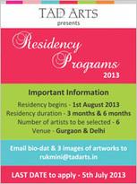 TAD Arts presents art residency programs   seo india servic   Scoop.it