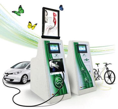 Borne de recharge en béton pour véhicules électriques | véhicules électriques étude de marché | Scoop.it