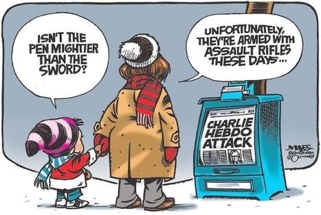 Edmonton Journal editorial cartoonist Malcolm Mayes reacts to Paris terrorist attack | Lavold's Social Studies 30-1 | Scoop.it