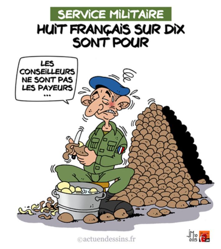 Rétablir le service militaire ? | Baie d'humour | Scoop.it