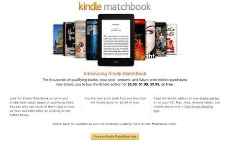 Amazon inaugure MatchBook, service pour lecteur et éditeurs | Le livre numérique est-il une tablette comme les autres | Scoop.it