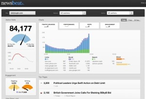 Newsbeat debuts as robust, real-time Web analytics tool for news publishers   All About Content   Scoop.it