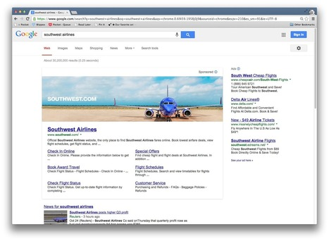New banner ads push actual Google results to bottom 12% of the screen | Jaien Digital Curation | Scoop.it