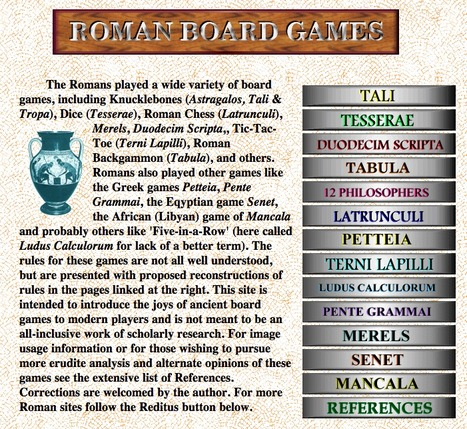 Roman Board Games | LVDVS CHIRONIS 3.0 | Scoop.it