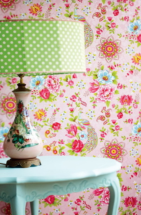 39 pip studio 39 in tissu d 39 ameublement art textile et papier peint - Tissus fleuris anglais ...