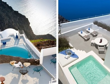 Hotels & Resorts: Elegant And Minimalist Santorini Caldera Hotel With Astonishing Views, hotel furniture, designer living ~ LucentHome.Com | Home Design | Scoop.it