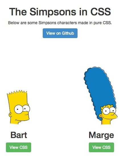 Les Simpsons en #CSS3 !! | Web Design & Development | Scoop.it