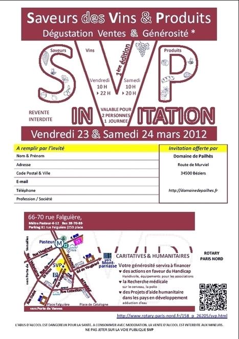 SVPinvitefalguiere2012.jpg (596x843 pixels) | domaine de pailhès | Scoop.it