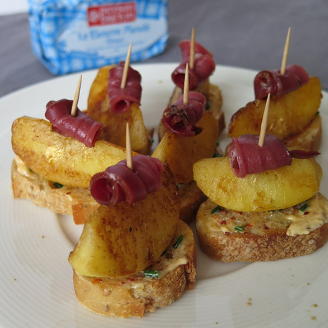 Bouchées aux pommes &magret fumé   Le Petit Creux   Scoop.it