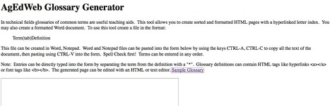 Glossary Generator | L2 Vocabulary Teaching & Learning | Scoop.it