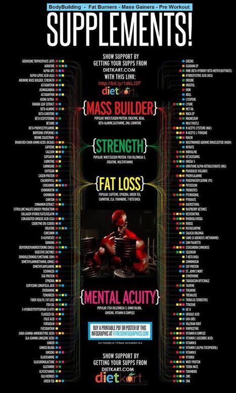 ✪Complete Supplement Infograph for bodybuilders ✪ | Health & Digital Tech Magazine - 2016 | Scoop.it
