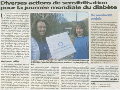 Les Diabétiques de Corse sur le Corse Matin | ADC | Scoop.it