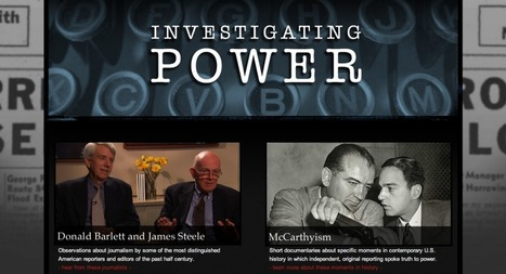 Investigating Power: 51 HD Videos, Timelines Show How Journalists Have Saved ... - mediabistro.com | Journalism in Transition | Scoop.it