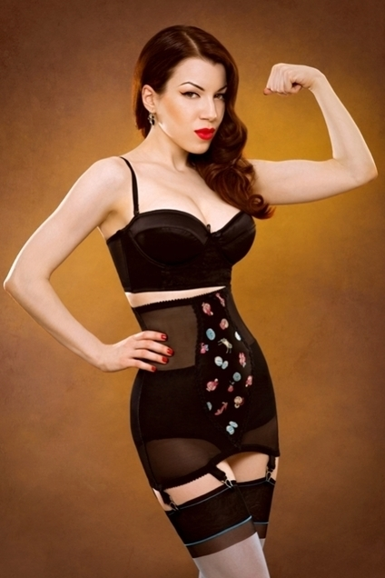 Candy Box Longline Girdle by Kiss Me Deadly in Girdles and Shapewear | VIM | Scoop.it