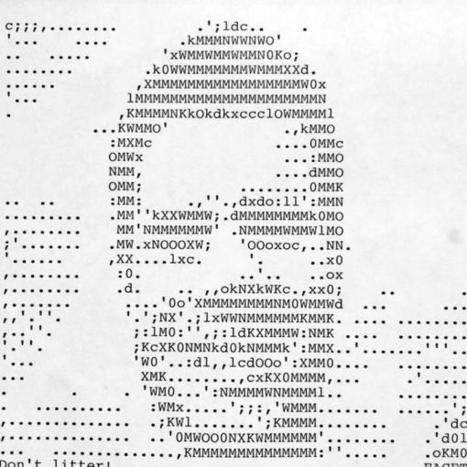 "John Edgar Park on Twitter: ""The @hackmanhattan Facetron 6000 autotyped this after mapping my photo to ASCII art. #MakerFaire #typewriter http://t.co/0nRoJpFMxw"" 