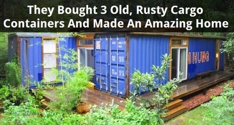 This Rusty Shipping Container Seems Abandoned. But Look Inside…It's Actually A Ravishing Home! | Sustain Our Earth | Scoop.it