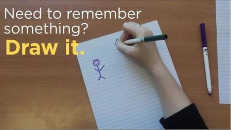 Need to Remember Something? Try Drawing It | Daring Ed Tech | Scoop.it