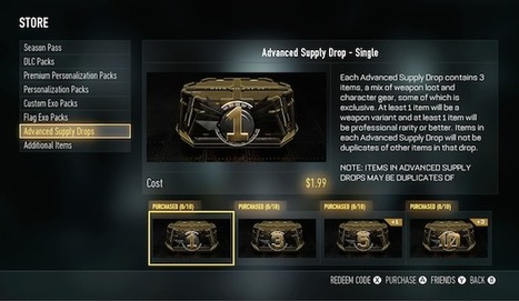 "Purchasable Supply Drops called ""Advanced Supply Drops"" now available on Xbox One - UPDATE 