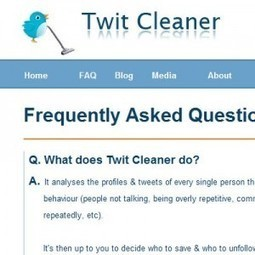 Following Too Many People On Twitter? Try Twit Cleaner, It's FREE | Twitter Toolbox | Scoop.it