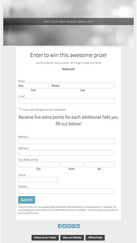 10 Free Contest Templates for Your Next Social Media Promotion | MarketingHits | Scoop.it