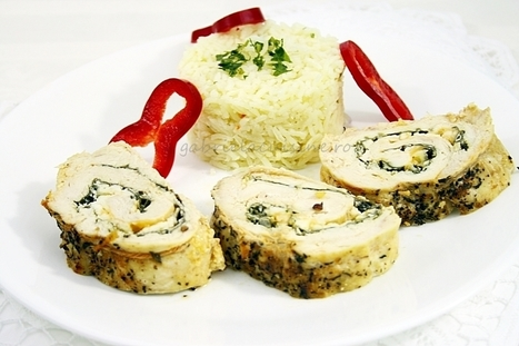 Chicken roulade with spinach and cheese | gabriela cuisine - recipes | gabrielacuisine | Scoop.it