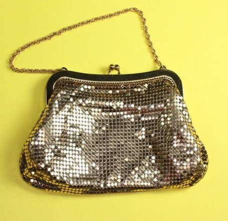 Vintage Evening Handbag Whiting and Davis Gold by PastSplendors | Antiques & Vintage Collectibles | Scoop.it