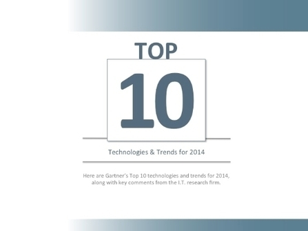 Top 10 Technologies & Trends for 2014 | Shared Tips Or Ideas | Scoop.it