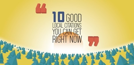 10 Good Local Citations You Can Get Right Now | Online Marketing Resources | Scoop.it