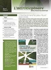 Journal L'intErDiSciplinaire: Institut EDS en environnement, développement et société | Interdisciplinarité | Scoop.it