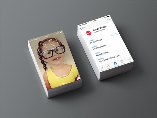 Fun Business Card Design Inspired By iOS 7