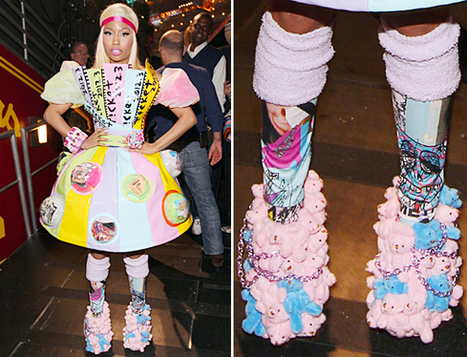 Nicki Minaj Sports Wedges Made Entirely Of Teddy Bears At Kids' Choice Awards | MTV Style | Fashion and The Music Industry | Scoop.it