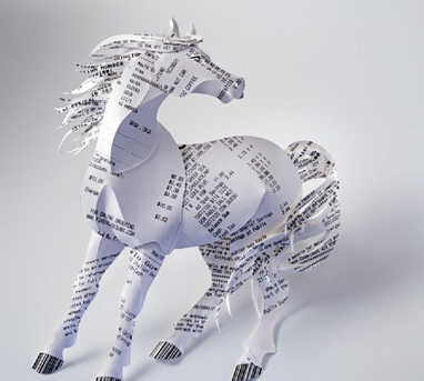 Gail Armstrong's style of paper sculpture...   The Cut Copy Paste   HorsesOne   Scoop.it
