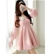 Long Sleeve Round Neck Plush Dress   the fashion clothes shoes dress bags   Scoop.it