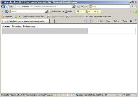 SignalR progress bar « A day with .Net | ASP.NET DEVELOPMENT | Scoop.it