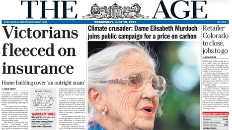 Rubert Murdoch's Mother Takes her Pro-Carbon Tax Stance to Rival Papter, The Age | Adweek | DigitalDirections | Scoop.it