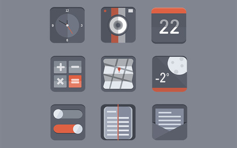 35 Beautiful Free Flat Icons Sets that You can Use | Make A Website | Scoop.it