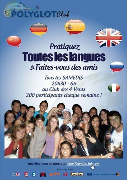 Polyglot Club Official Website - Find a friend to exchange languages! | Cours de français à Paris | Scoop.it