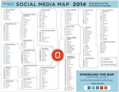 Tous les Médias Sociaux sur une carte interactive | Ma veille - Technos et Réseaux Sociaux | Scoop.it