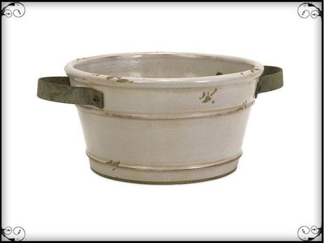 Colfax Short Pot With Metal Handle   Furniture and Home Decor   Scoop.it
