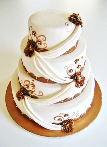 Bronze Weddingcake | Just Chocolate!!! | Scoop.it