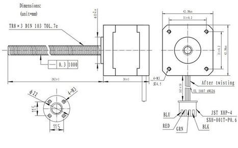 Pololu - Stepper Motor with 28cm Lead Screw: Bipolar, 200 Steps/Rev, 42×38mm, 2.8V, 1.7 A/Phase | Micro-contrôleurs | Scoop.it
