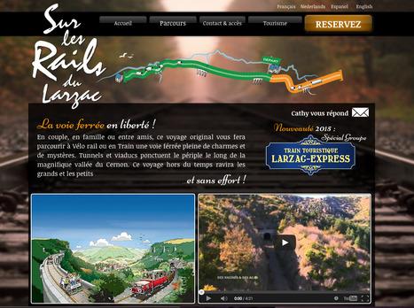 Nouveau site web : Sur les rails du Larzac | L'info tourisme en Aveyron | Scoop.it